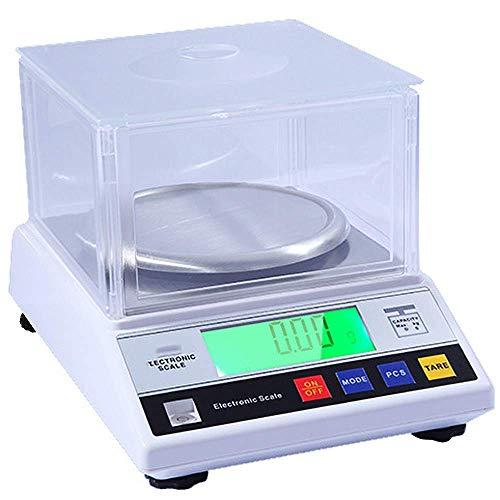 300G / 600G / 1000G / 2000G x 0,01 G Alta precisión Escala de laboratorio digital Escala de laboratorio de alta precisión Escala de conteo de equilibrio analítico para la industria Joyería Gold, 2000G
