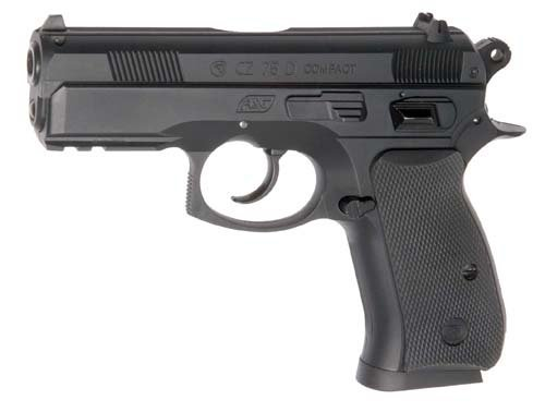 ASG - Replique CZ 75D Compact - Pistola per Softair, Colore: Nero