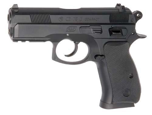 ASG - Replique CZ 75D Compact - Pistola per Softair, Colore: Nero