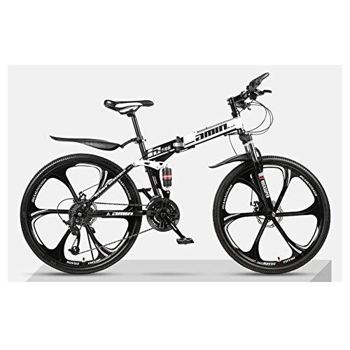KXDLR Mountain vouwfiets, 26 inch, mountainbike, 24 versnellingen, dubbele spanning, kinderfiets, jongens en meisjes fiets