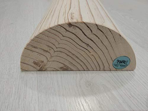 Tronco suelo pelvico , tronco propioceptivo de madera o eutonia 5p Wood Roller para hipopresivos, pilates, yoga. 5P. medidas oficiales 49,5 x 17 x7,5,