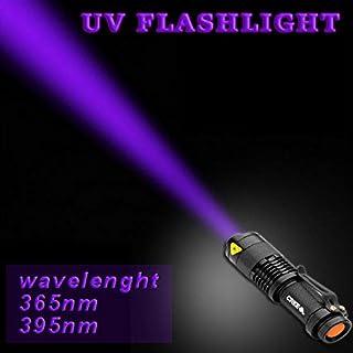 Gladle 3 Modo Potente Linterna luz Ultravioleta con táctico