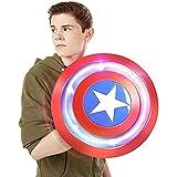 PRETAY Escudo Capitan America 1: 1 Apoyos de Película Niños Capitán América Disfraz Avengers 4 Juguetes para Adultos Decoración para Colgar En La Pared De La Barra 32CM