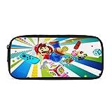 Super Mario - Astuccio per matite, stile breve, per cosmetici, da viaggio, alla moda, multifunzione, per trucchi, matite, cancelleria per scuola e ufficio