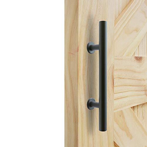 LYBD Manija de Puerta - palancas de Acero al Carbono para Puertas corredizas, diseño sin Ranura, Estilo Moderno, Distancia de Orificio de 18 cm, manija de Puerta de Repuesto para Bricolaje