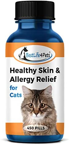 BestLife4Pets Healthy Skin and Allergy Relief for Cats All Natural Supplement Relieves Pet Allergies product image