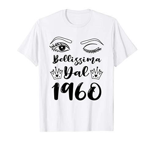 Bellissima Dal 1960 Donne 61 Anni Compleanno Donna Regalo Maglietta