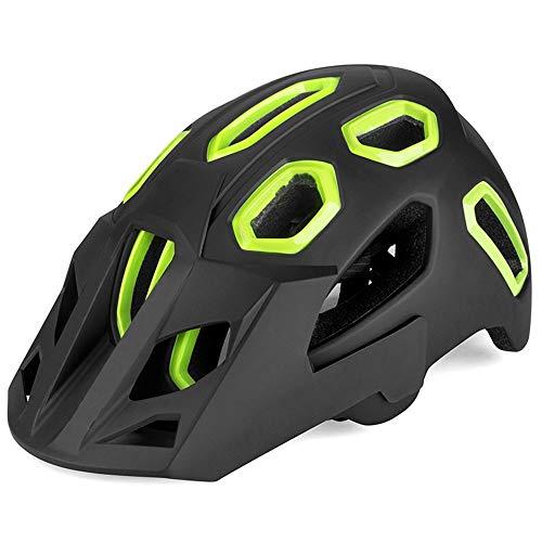 BeiQuan Adulto-Hombres-Mujeres Casco de la Bici - Carretera de montaña del Casco de Ciclista con Almohadillas de Repuesto y Desmontable Visor (Color : Green)