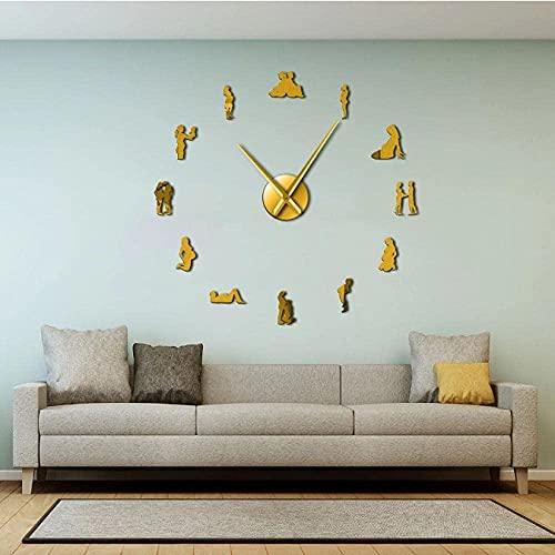 Embarazo decoración de Pared DIY Gran Reloj de Pared silencioso Mujeres Embarazadas recién Nacido bebé mamá para ser Reloj Gigante Decorativo Regalo de inauguración de la casa-47 Pulgadas