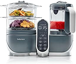 Babymoov Nutribaby+ A001124 - Procesador de alimentos para bebés, cocción al vapor y batidora color gris