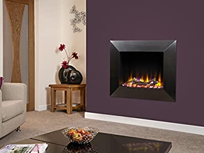 Celsi Designer Fire Ultiflame VR Impulse Black Wall Mounted Inset Electric Fire