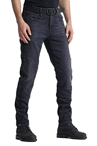 Pando Moto Boss Black 9 Men's Motorcycle Jeans with Cordura and Kevlar Lining CE Approved Slim Fit Motorbike Trousers