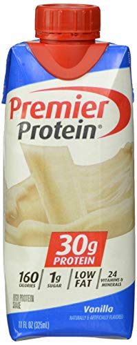 Premier Nutrition High Protein Shake, Vanilla, 11 oz.,2Pack (18 Count Each )