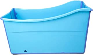 Weylan Tec Large Foldable Bath Tub Bathtub For Adult Children Baby Toddler Blue