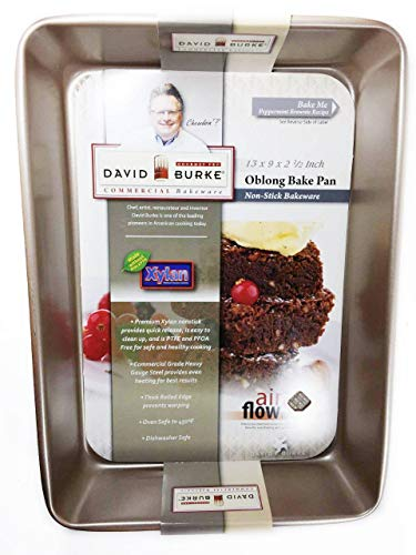 David Burke Kitchen Commerical Weight Oblong Bake Pan Oblong Bake Pan For Unisex 13 x 9 x 2.5 Inches