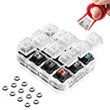 Griarrac Cherry MX Switch Tester Switch Sampler Mechanical Keyboards 12-Key Switch Testing Tool, with Keycap Puller and Switch O Rings (Includes Cherry MX Silent Speed)