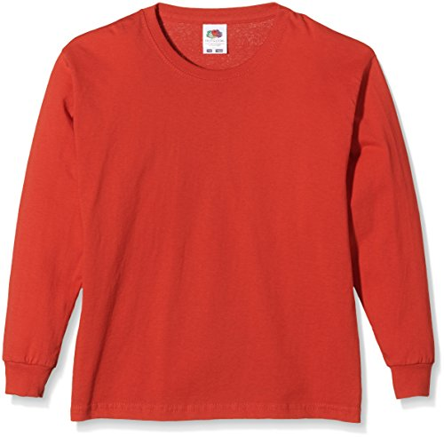 Fruit of the Loom SS019B Camiseta, Rosso, XX-Small (3-4 años) Infantil