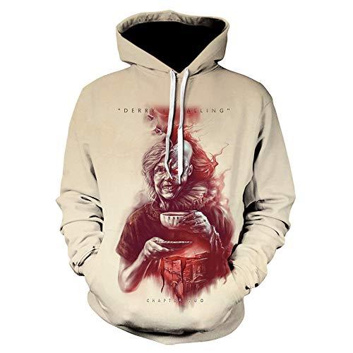 ZZTXF Stephen Kings It Clown Unisex Hoodies Mode Streetwear Casual Men 3D Sweatshirt Harajuku Hoody Hip Hop Sudaderas Hombre Jacke-We-1025_XXL