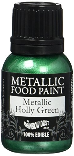 Rainbow Dust Metallic-Lebensmittelfarbe Holly Green, 1er Pack (1 x 25 ml)