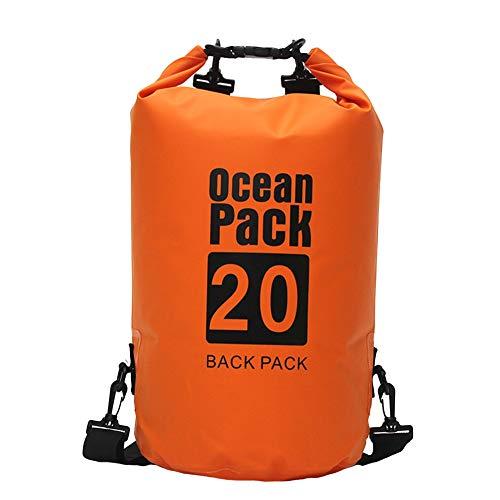 Icegrey Bolsa Seca Impermeable Dry Bag wateroof para Rafting, Kayak navegación Senderismo, esquí, Buceo, Pesca, Escalada, Camping Naranja 5L