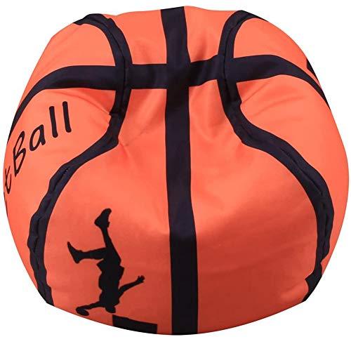 Kinder Sitzsäcke Möbel Kissen Sessel Sofa Plüschtiere/Kleidung, Quilts/Organizer, weiche Tasche (ohne Füllung) 18/26/38-Inch,Basketball,26in