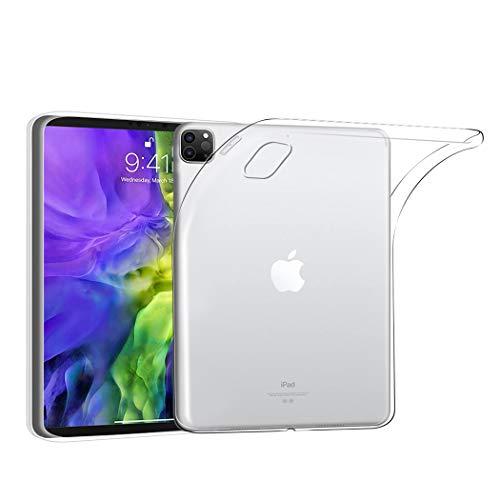 Funda para Apple iPad Pro 12,9 (2020) Cubierta Protectora de TPU Claro [Cojín Delgado] [Parachoques Ligero] [Transparente] Resistente Tablet Clear Funda TPU Caucho Protectora para iPad 12,9 (2020)
