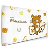 AntonioWilliams Rilakkuma Office,Study,Desk Mat,Shopping,Gaming Mouse Pad,Stitched Edges,Oversized Non-Slip Rubber,Extended Game Racing Mouse Pad (15.8x35.5 Inches)