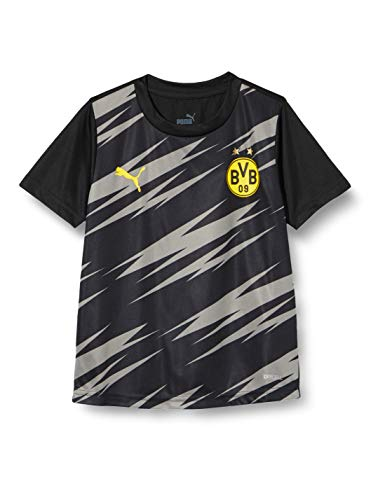 PUMA BVB Stadium Jersey Jr T-Shirt, Black-Asphalt-Home, 164
