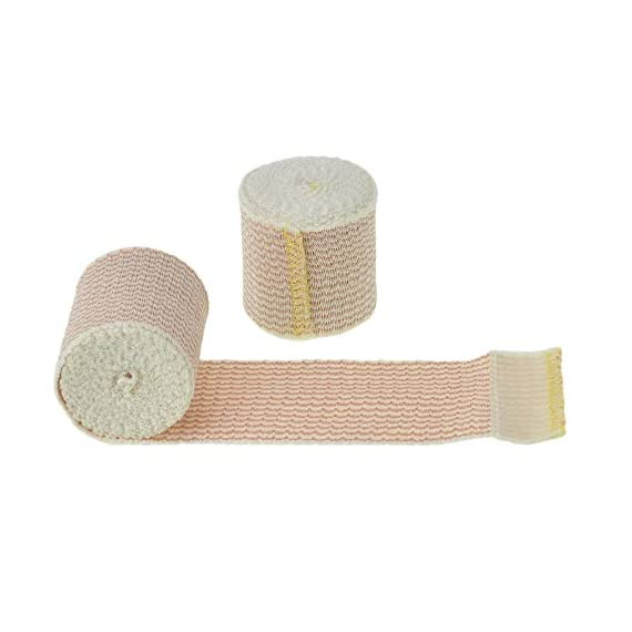 """Dealmed 10 Pack 2"""" Elastic Bandage Wrap with Self-Closure, Comfort Compression Roll, 4.5 Yards Stretched 1 PACK OF COMPRESSION WRAPS 