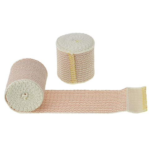 Dealmed 10 Pack 2' Elastic Bandage Wrap with Self-Closure, Comfort Compression Roll, 4.5 Yards Stretched
