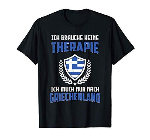 Griechenland Urlaub Fan Hellas Griechische Flagge T-Shirt