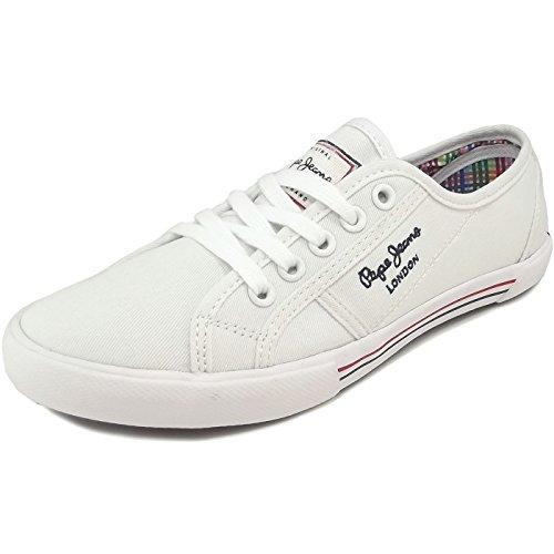 Pepe Jeans London Damen ABERLADY Basic 17 Sneaker, Weiß (White 800), 38 EU