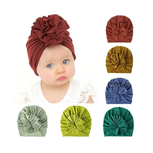 Happy Cherry Sombrero Recién Nacido Hospital Gorro Lindo de Algodón Niña Baby Hat de Flor Suave de 0 a 6 Meses