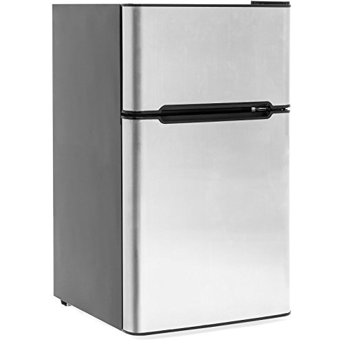 3.2 Cu. Ft. Stainless Steel Double Doors Compact Mini...