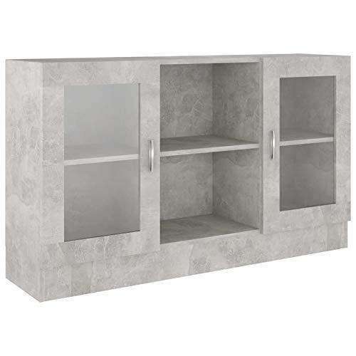 armadio camera da letto ad angolo Tidyard Armadietto con Vetrina Grigio Cemento 120x30