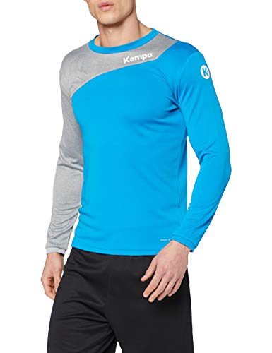 Kempa Erwachsene CORE 2.0 Langarmshirt Bekleidung Teamsport, kempablau/Dark grau melan, M