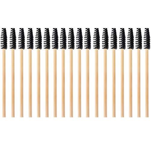 Beaupretty Baguettes de Mascara Jetables Extensions de Cils Applicateurs de Cils Fins Pinceaux de Maquillage Peigne à Sourcils Cils Bigoudi Fournitures Cosmétiques 20Pcs Noir