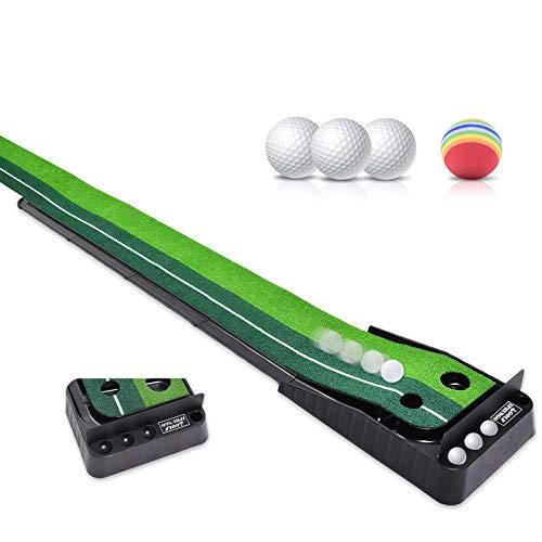 Asgens Golf Putting Green, Indoor/Outdoor Golf Auto Return...
