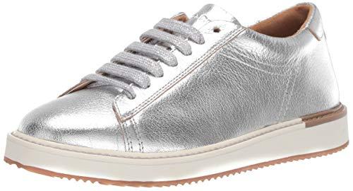 Hush Puppies Women's Sabine Sneaker, Silver Metallic Leather, 06.5 W US