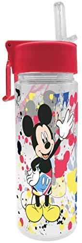 Disney Mickey Mouse 12077 Micky Maus Trinkflasche, Tritanflasche, Flasche, Tritan, 500 milliliters, Mehrfarbig