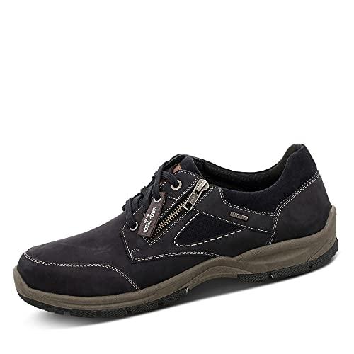 Josef Seibel Zapatos cómodos Lenny 54, ancho K (extra ancho), impermeables, Blue Indigo Kombi, 44 EU X-Weit