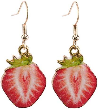 Flybloom Sweet Fruit Pendant Earrings Kiwi Strawberry Earrings Women S Girl Earrings Style 2 product image
