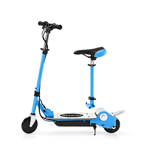 MAXTRA Folding Electric Scooter with Removable Seat for Kids Ages 6-12 - Up to 10MPH and 155LBS Max Load
