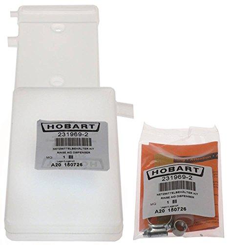 Hobart Behälter für Spülmaschine FX, GX für Klarspülmittel Kit Breite 105mm Höhe 25mm Länge 335mm
