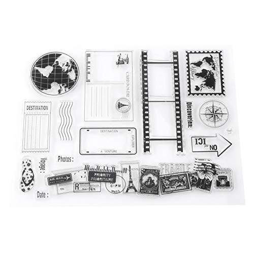 Silikonstempel, Scrapbook Stempel, Bullet Journal Stempel, Transparenter Silikon Stempel für Scrapbooking, Scrapping, Tagebücher Und Kartenpostkarten Für Die Dekoration, 14x18cm
