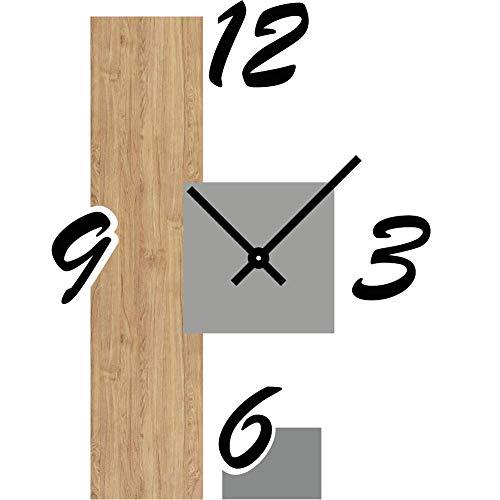 Generico Abstract Mirage - Reloj de pared de diseño para cocina, salón, decoración de casa, habitación (nogal)