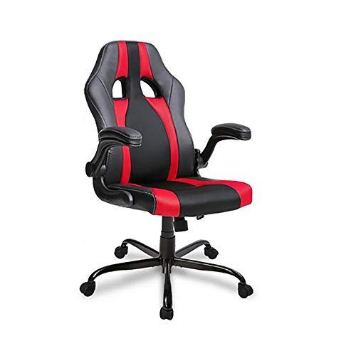 Gaming stoel bijgewerkte versie High Back Faux lederen Executive bureaustoel gratis Swivel schommelen ontwerp met verstelbare armen overeenkomen met alle bureaus