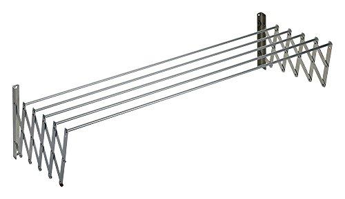 Wurko Tendedero Extensible, Metal, Plateado, 100x13x3 cm