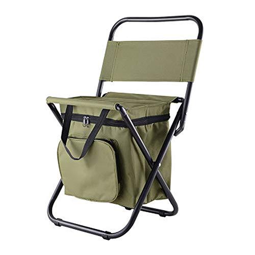 SFBBAO Stühle Angelstuhl Bewegliche Kühlschrank Halten Warm Kalte Tragbare Klappstrand Stuhl Wie Gezeigt Grün