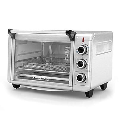 BLACK+DECKER Crisp 'N Bake Air Fry Toaster Oven, Stainless Steel, TO3215SS, 6 Slice